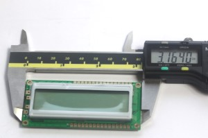 Width Measurement of 16x2 LCD