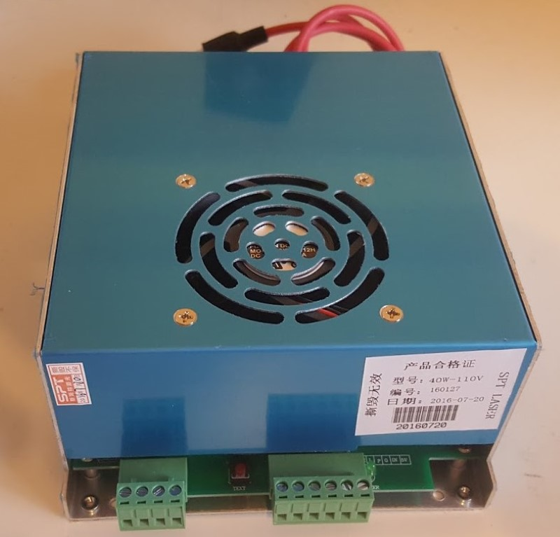 40W CO2 Laser Power Supply