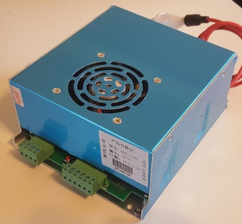 40W CO2 laser psu power supply