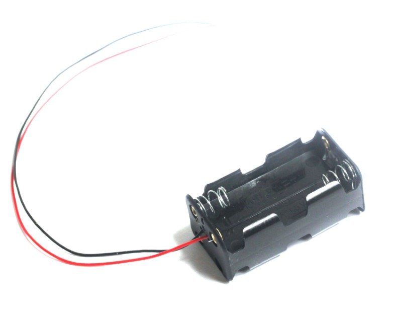4 AA Battery Holder with Wire Leads