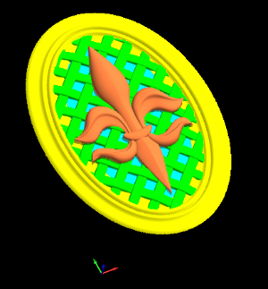 A screenshot of the embossing feature of BobCAD and BobART Pro
