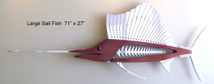 Mark Gottschalk's wooden and metal fish made using the blackToe CNC Machine
