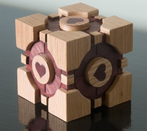 Companion cube made using the blackToe cnc machine.