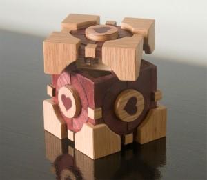 Companion cube opened