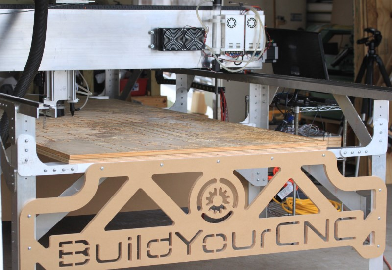 Fabricator Pro CNC Router view of the back of the machine and the back of the gantry