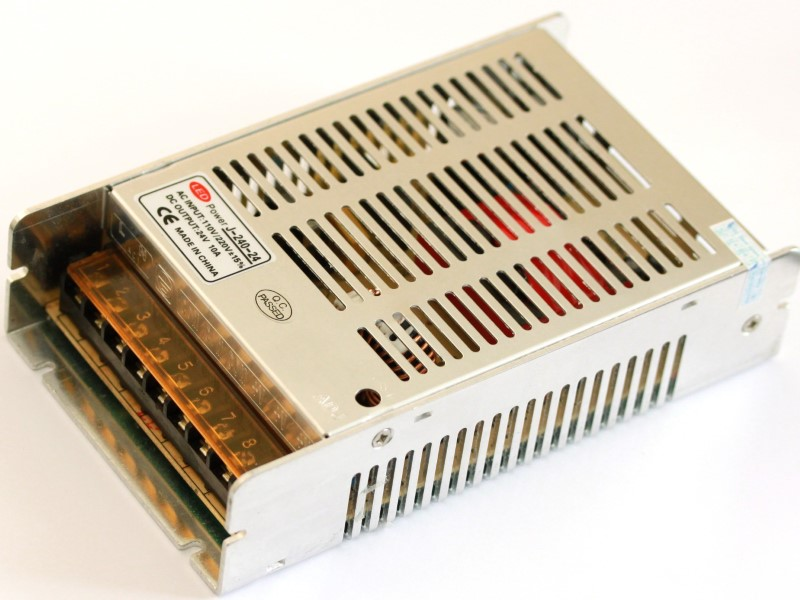 Top main view of the 24V 10A power supply