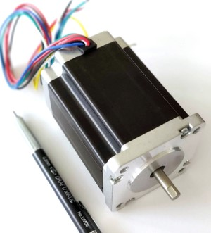 Full view of the 425 oz-in nema 23 24 stepper motor