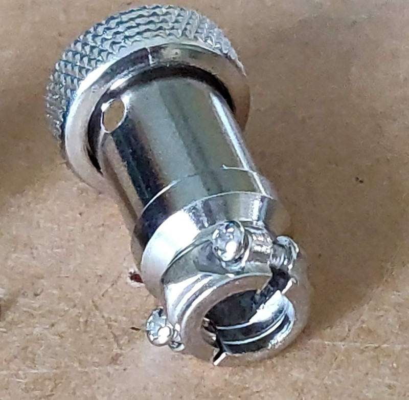 Cable End female round 12mm connector