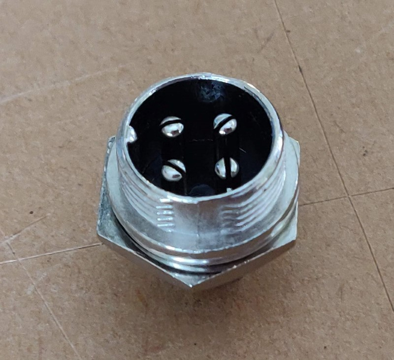 round male panel end connector 12mm main image