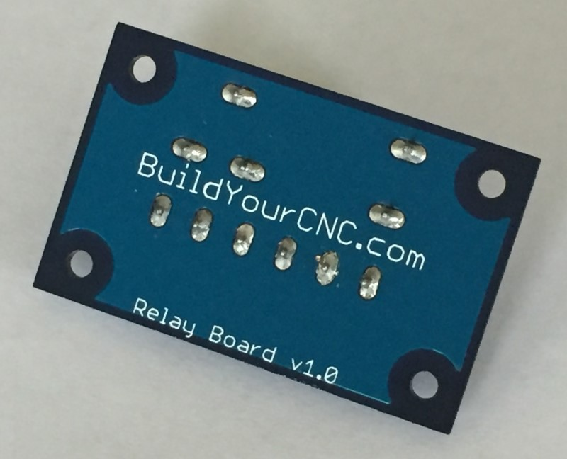 Underside of 5V 250V 12A relay board