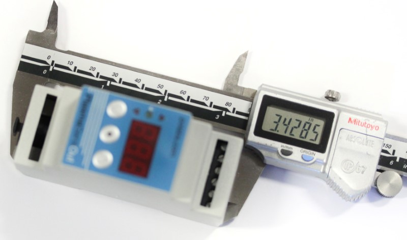 Image of the length of the plasmasense and plasmasenseout at 3.43 inches