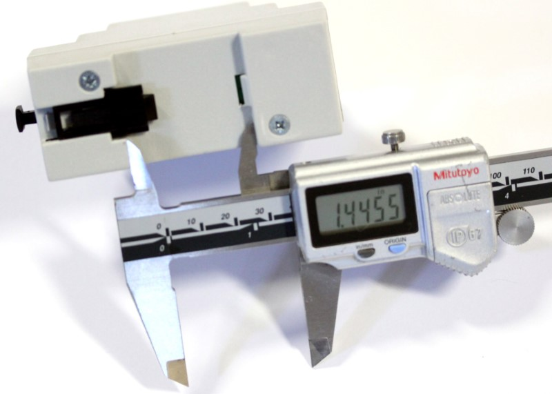 Image of the opening for a rail mounting under the plasmasense and plasmasenseout at 1.45 inches