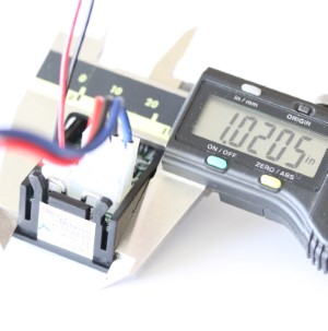 Voltage and current display height measurement for panel opening