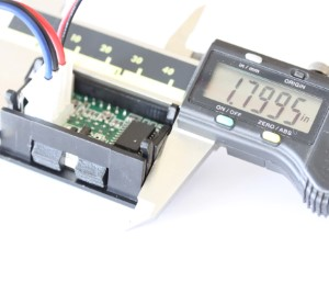 Voltage and current display width measurement for panel opening.