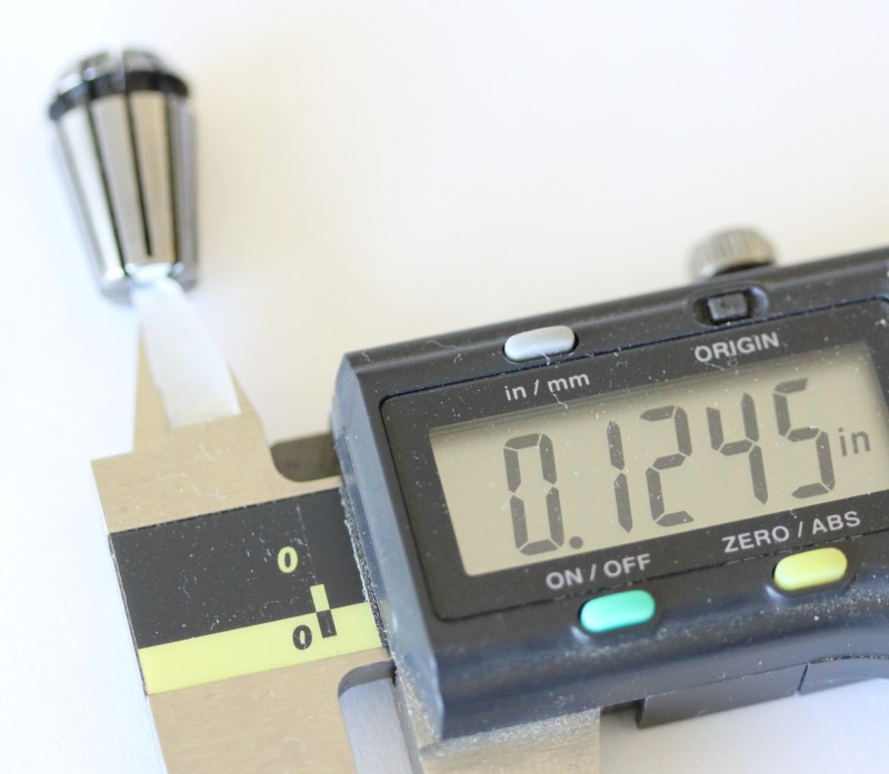 Bore measurement of the 1/8