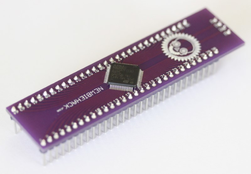 STM32F0 microcontroller and interface board top view