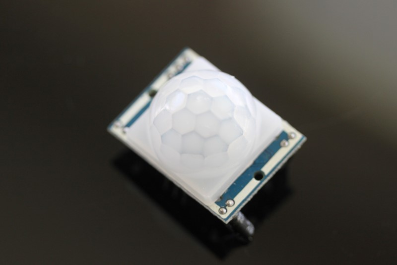 PIR sensor on dark background