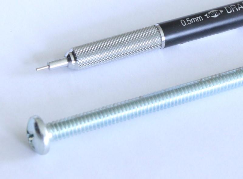 one quarter inch by four inch machine screw