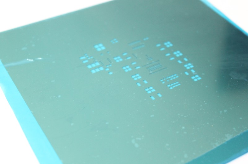 Custom stencil for PCB (Printed Circuit Board)