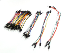 The bundle of wires is shown, separated by 4 different lengths.