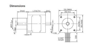 NEMA 14 17oz-in stepper motor dimensions
