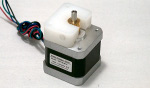 White Plastic part on stepper motor