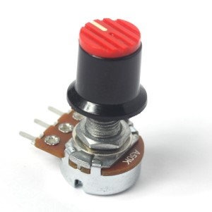 Potentiometer with adjustable knob.