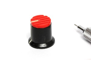 Small red knob for potentiometer