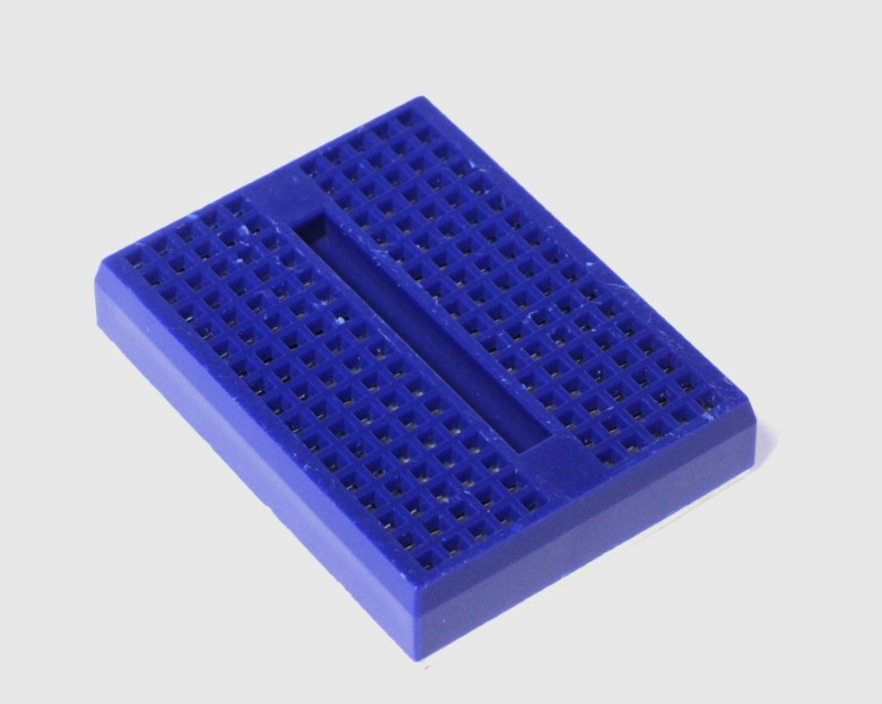 Single Blue 17x10 Mini Breadboard