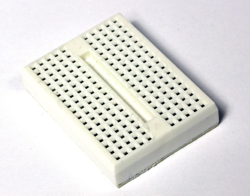 Single White 17X10 mini breadboard