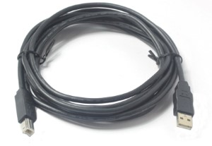 USB 2.0 Cable 10 Foot Type A Male to Type B Male
