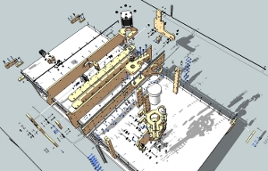 Exploded view of the blackFoot CNC Machine