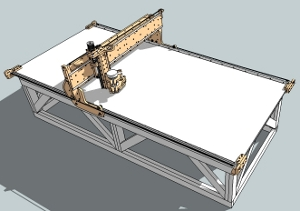 cnc router table machine kit plans