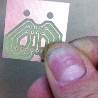 The PCB made by Duncan with the blackToe cnc router