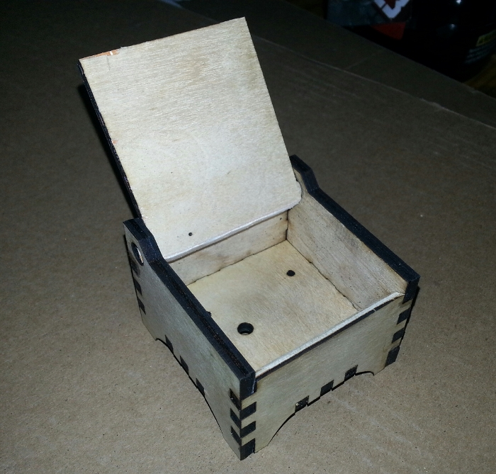 blackTooth Laser Cutter Example of box that functions and is in its open state