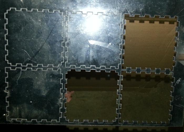 Box cutout using laser cutter