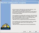 Machine configuration complete for linuxcnc emc2