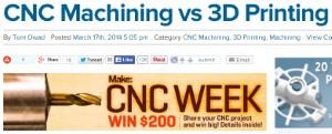CNC Machining vs 3D Printing
