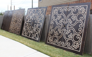 Four of the 8'x8' panels made with the blackfoot cnc machine