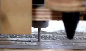 greenBull CNC cutting aluminum