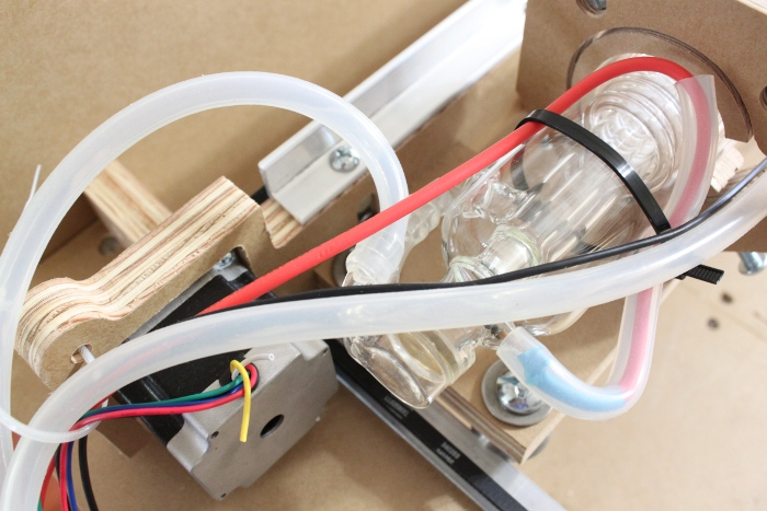 Install the silicone tube to the outlet