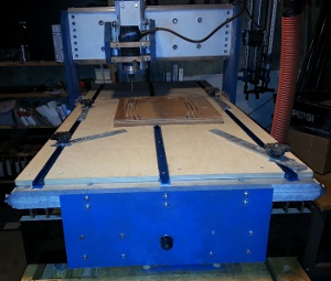 The front of Lawrences cnc machine.