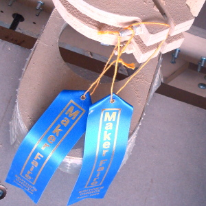 Editor's Choice ribbons received for the blackToe v2 cnc machine