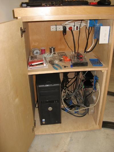 Mark Gottschalk's computer cabinet