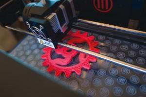 3d Printer making a piece: Image Courtesy of Makezine.com