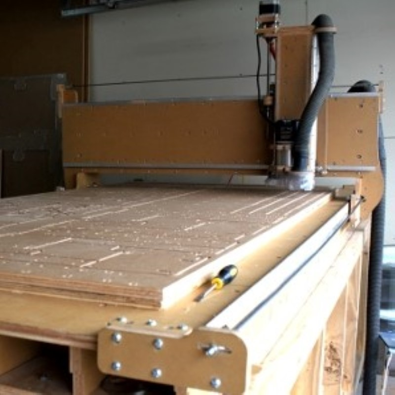 Overall view of the greenBull cnc router