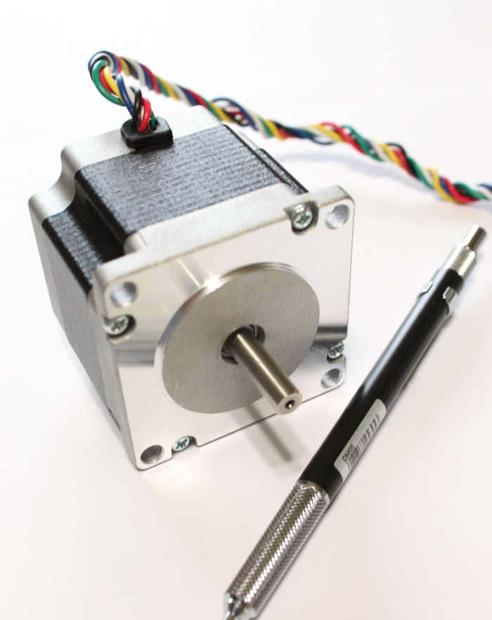 Buildyourcnc nema 23 stepper motor 100 oz in 3 0 amps for 24 volt servo motor