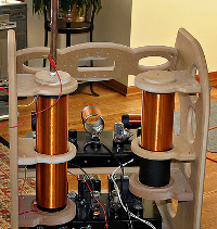 The inside of Steve Hobley's theremin.